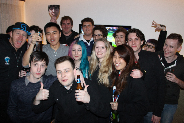 Group shot! After the LoL OPL Final comes the after party. esports