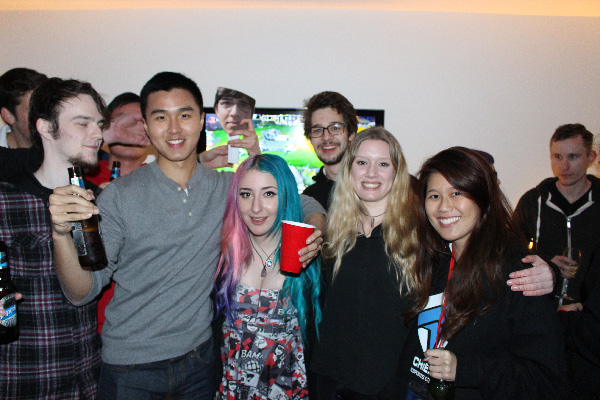 The Chiefs' ADC Raydere celebrating with fans. esports