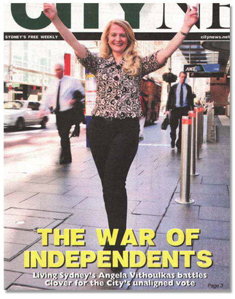 Making the cover of Sydney City News.