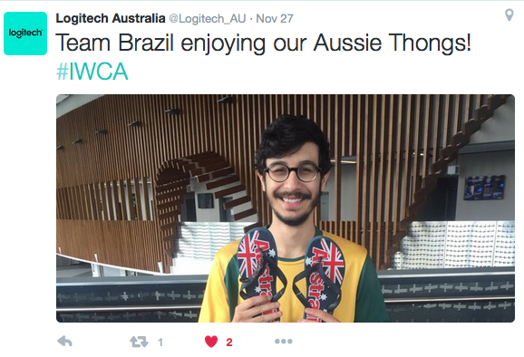 """""""Revolta"""" from Team Brazil was stoked with his Aussie gift from Logitech G! Social media activation"""
