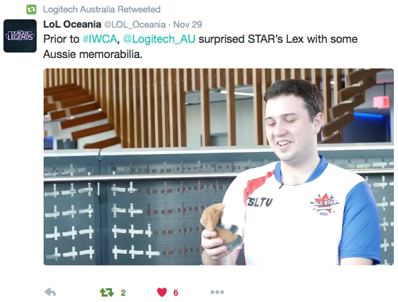 """@LoL_Oceania, the Oceanic region's official source of League of Legends content, posted this reaction video of Team Russia's """"Lex"""" with his new plush koala pal. Social media activation"""