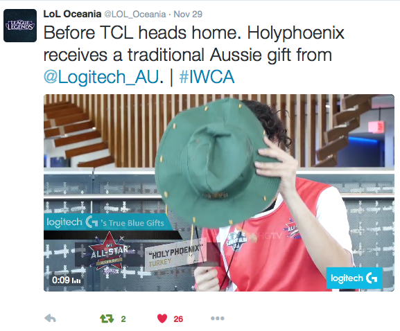 """Turkish may have been runners-up, but """"Holyphoenix"""" walked away with a true blue cork hat after his chat with Logitech G. Social media activation"""