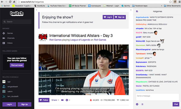 Almost 45K people watched Logitech G sit down to talk eSports with Ceros from Team Japan. Social media activation