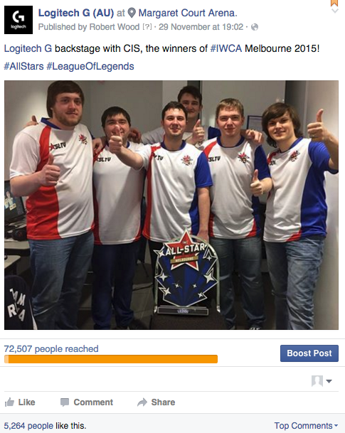 Winning team CIS, shortly after taking IWCA honours. Social media activation