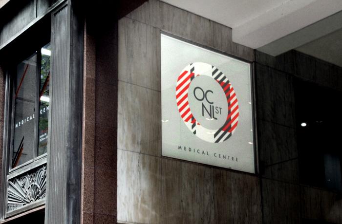 Brand marketing agency. OCNL ST lightbox signage.