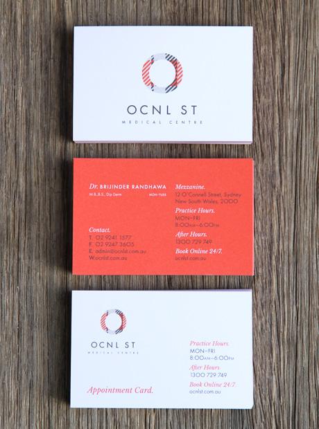 Brand marketing agency. OCNL Business Cards