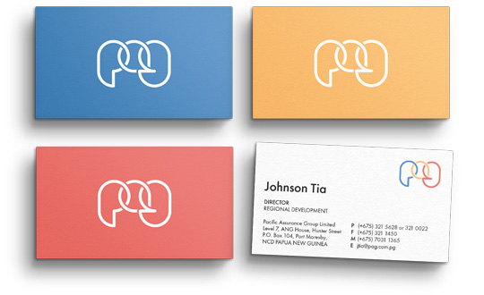 Corporate branding agency. PAG Business Cards.