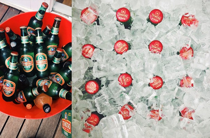 Product shots: just one of a few content pillars on the Tsingtao Instagram account.