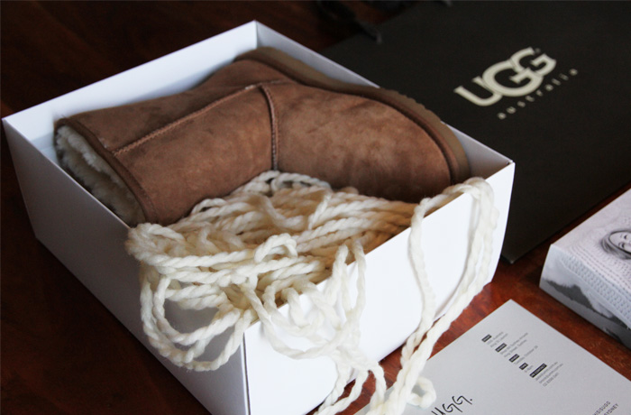 VIPs were sent one Classic UGG Australia Boot and advised they could collect the other at the launch.