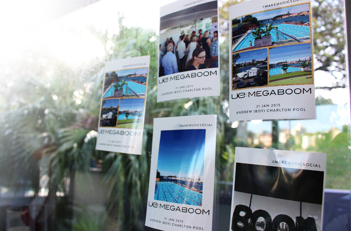 Event photos were printed directly from Instagram, placed around the room, and taken by guests upon leaving.