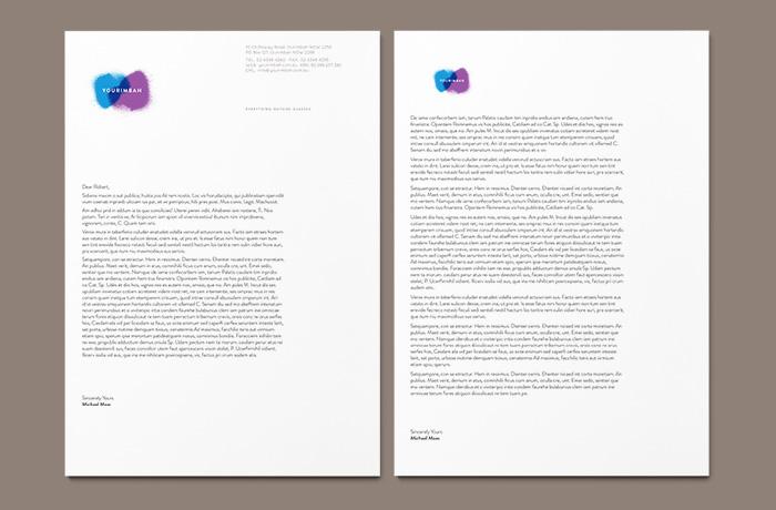 Vorporate branding agency. Yourimbah letterhead and follower.