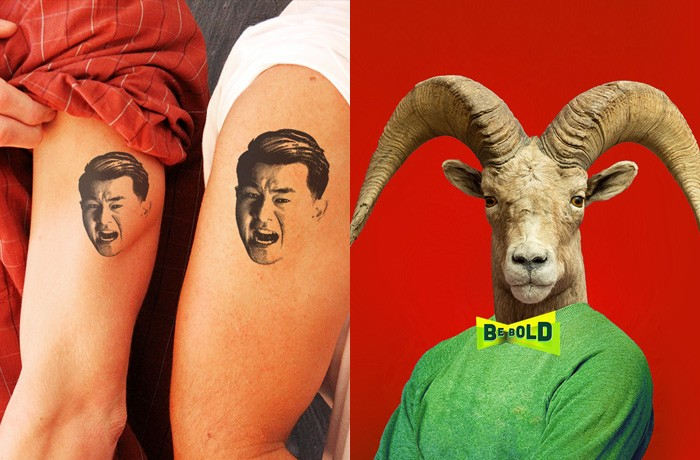 Sometimes the account ventured into weird territory, as in the cases of faux-tattoos and a ram wearing a bow tie.
