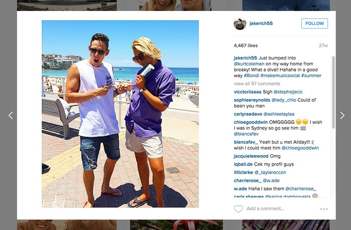 Instagram coverage featuring influencer duo @jakerich55 and @kurtcoleman.