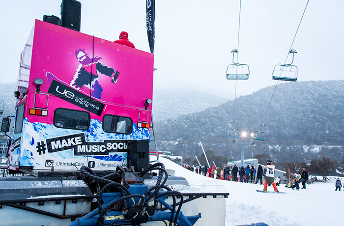 Brand and design agency. UE also wrapped a Snow Cat in Thredbo.