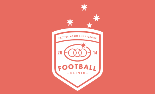 Strategic branding agency. PAG Football Clinic Logo.