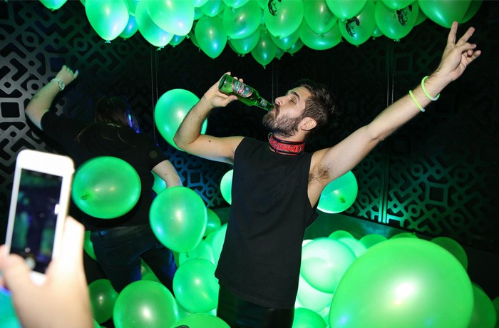 Balloons and booze are two key ingredients in a bold night out.