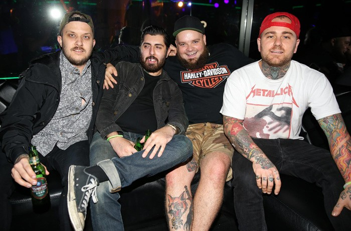 It wasn't all craziness: some people opted to chill on the couches at Dynasty Karaoke, Sydney.