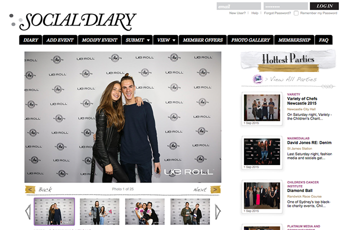 An event gallery on Social Diary.
