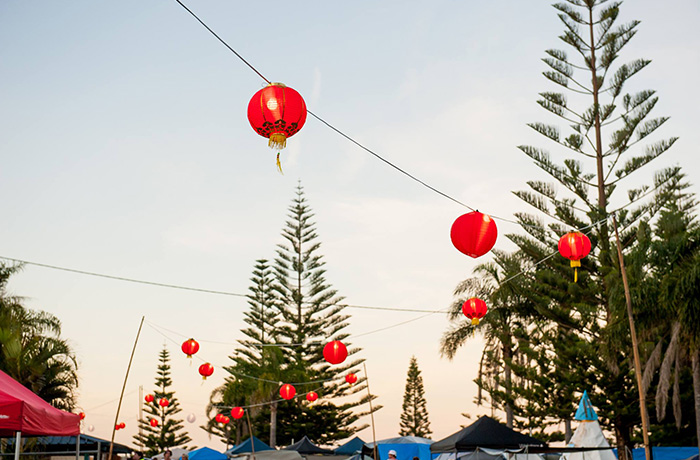 The Wabi Sabi lanterns added a pretty touch to the skyline.