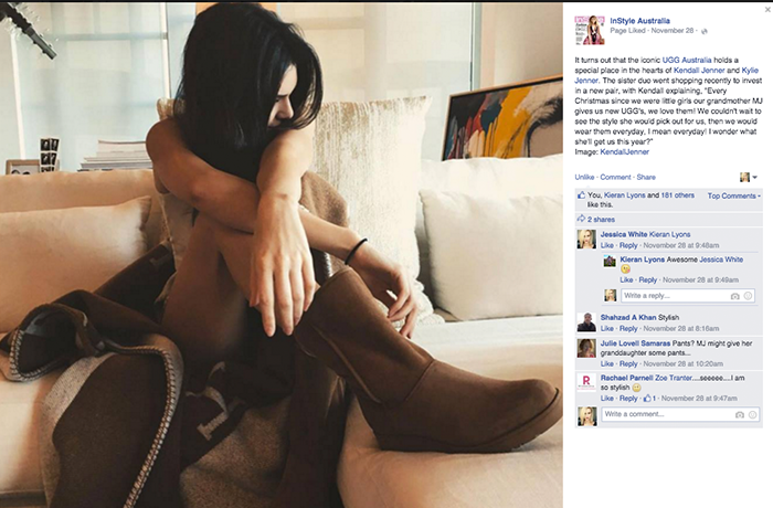 Nothing comes between Kendall Jenner and her UGGs.
