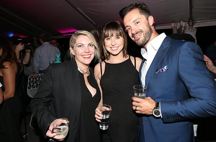 UMM Joint Managing Director Nikki Stevens, UMM Head of PR Jaala Mills, and Logitech Australia Country Manager, Damian Lepore.