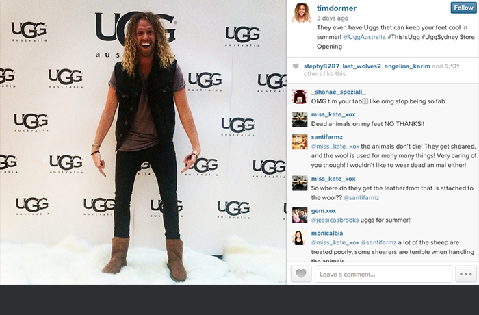 Tim Dormer at the UGG King St launch.