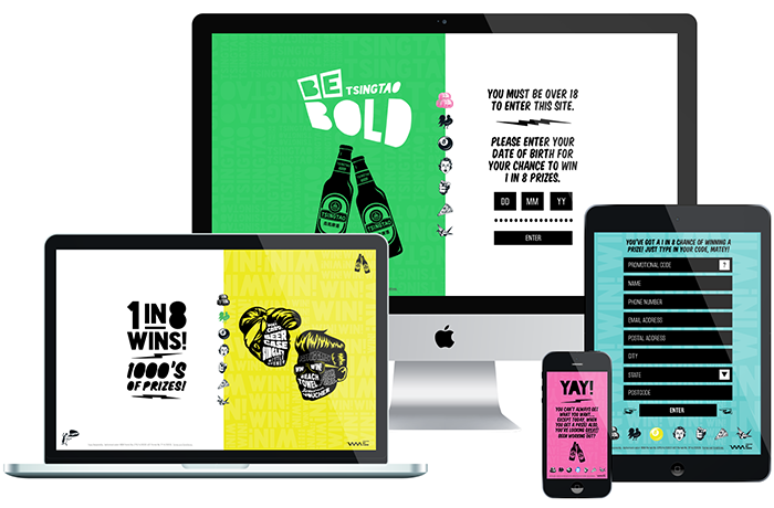 Advertising agency branding. Responsive Website Design.