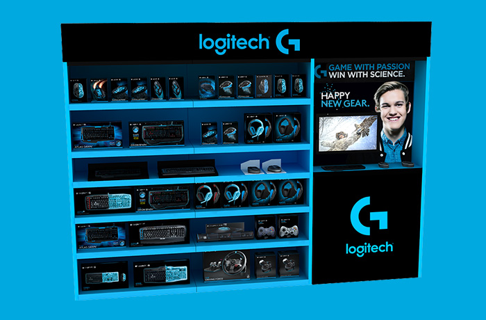 Creative agency Sydney. Branding and point of sale design for Logitech. By UMM.
