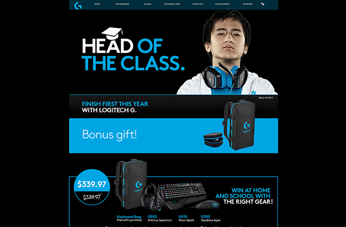 Creative agency Sydney. Branding and website design for Logitech. By UMM.