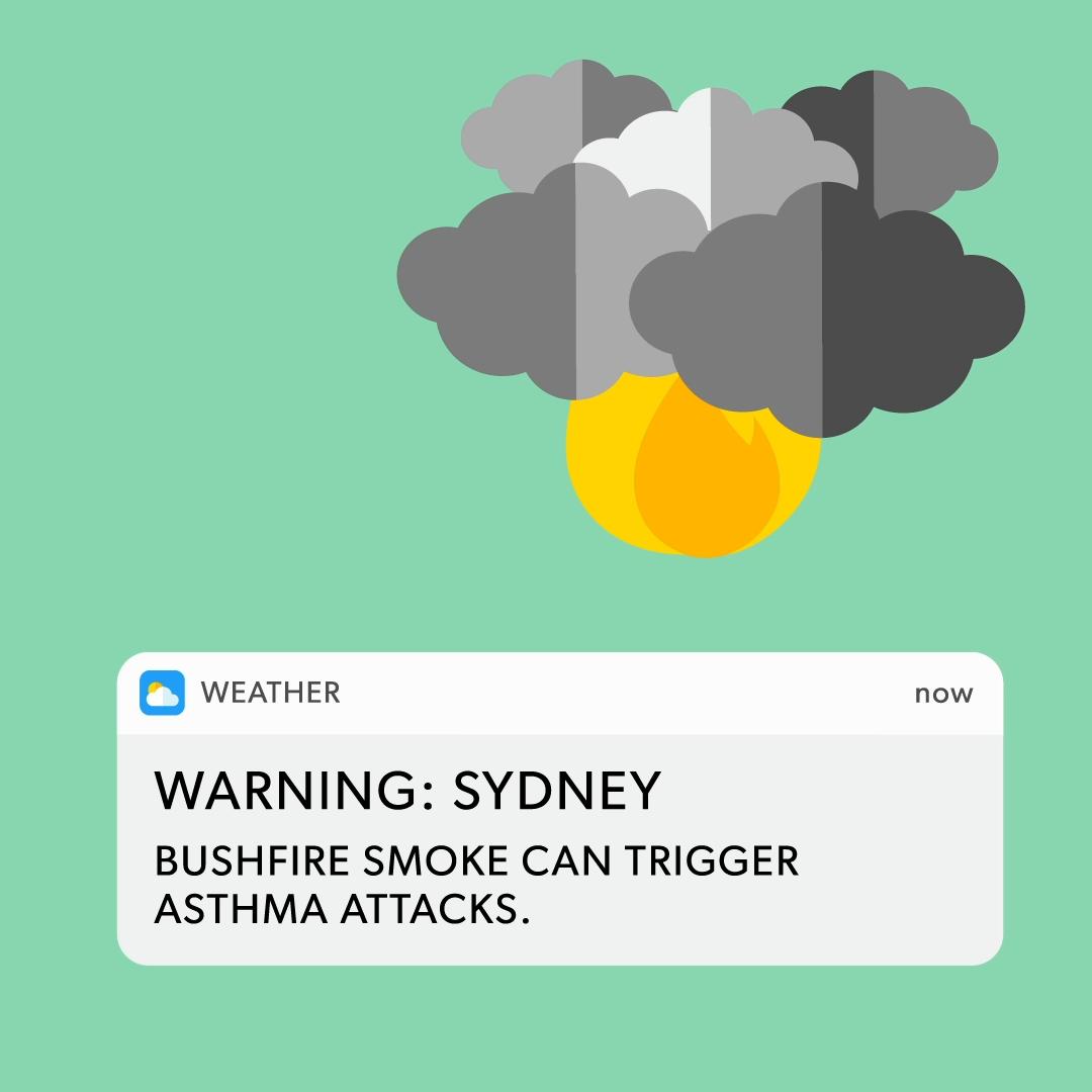 TruSens Smoky Weather Warning